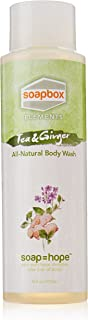 SoapBox Soaps All-Natural Elements Body Wash, Tea and Ginger, 16 Ounce