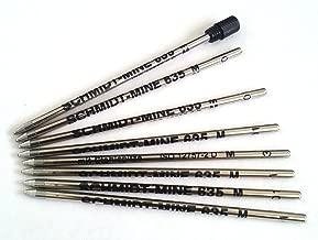 8 X Schmidt 635M Mini Ball Pen D1 size Refills – BLUE Ink and one removable black end cap.