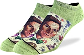 Men's Bill Nye Ankle Socks - Green, Adult Shoe Size 7-12