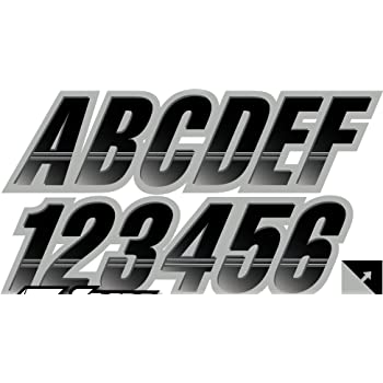 STIFFIE AirBlock Green//Black 3 Alpha-Numeric Registration Identification Numbers Stickers Decals for Boats /& Personal Watercraft
