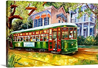 Streetcar in The Garden District Canvas Wall Art Print, 24