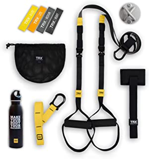 TRX GO Bundle: Includes GO Suspension Trainer, Training Xmount, Training Set of 4 Mini Bands & TRX Training Stainless Steel Water Bottle