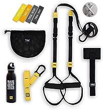 TRX GO Bundle: Includes GO Suspension Trainer, Training Xmount, Training Set of 4 Mini Bands & TRX Training Stainless Steel Water Bottle