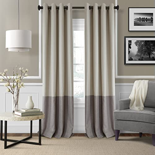 high quality Elrene Home Fashions Braiden Room Darkening high quality Window Panel 52-Inch by 95-Inch, new arrival Linen outlet online sale