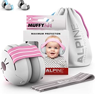 Alpine Baby Muffy Casque Anti bruit bébé : protection auditive pour bébés et tout-petits jusqu'à 36 mois - Améliore le som...