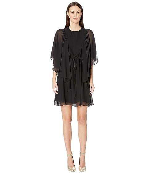 See by Chloe Textured Georgette Flutter Sleeve Dress