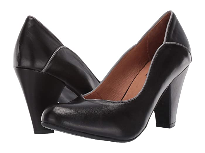Rockabilly Shoes- Heels, Pumps, Boots, Flats Miz Mooz Cameo Black Womens  Boots $149.95 AT vintagedancer.com
