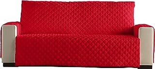 Lucena Cantos - Cubre Sofá Reversible, (Rojo/Negro, 4