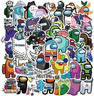 Entre nosotros pegatinas grandes 50 piezas Graffiti Anime impermeable de moda para adultos pegatinas