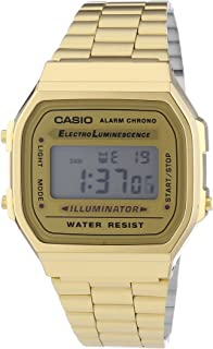 Casio Vintage Retro Gold Digital Dial Stainless Steel...