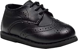 Paisley of London, Baby Boys Patent or Matt Black Shoes, Boys Brogue Shoes, inf1 - inf8