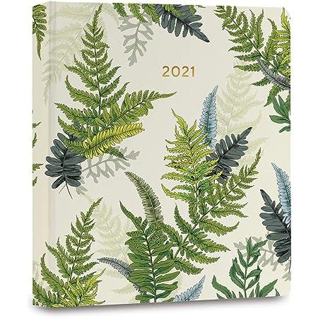 "High Note 2021 Planner by La Scarlatte, Greenery Woodland Ferns 17-Month Hardcover Planner, August 2020 - December 2021, 7"" x 8.5"""