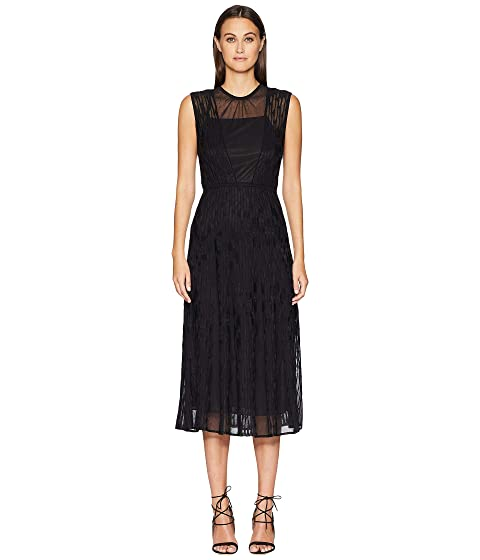 M Missoni Bicolor Relief Sleeveless Dress with Sheer Detail