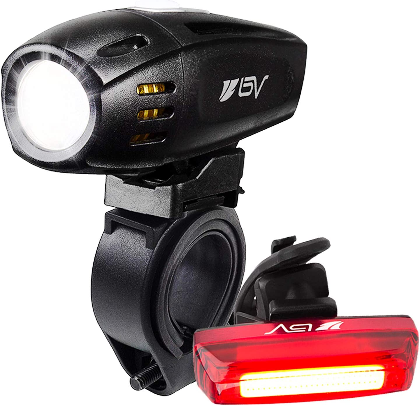 BV Sale item Super Bright USB Rechargeable Bike Headlight Light with Set Jacksonville Mall