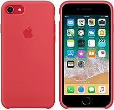 Funda para iPhone 7/8 Carcasa Silicona Suave Colores del Caramelo con Superfino Pelusa Forro,Anti-rasguños Teléfono Caso para Apple iPhone 7/8 (Frambuesa roja)