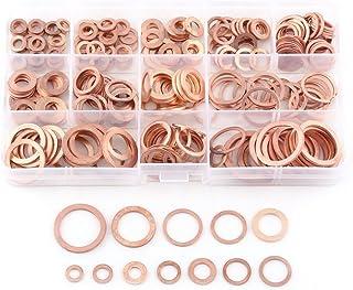 Iycorish 280 juntas de cobre de sello de aceite con junta plana de cobre junta de aceite junta de cobre