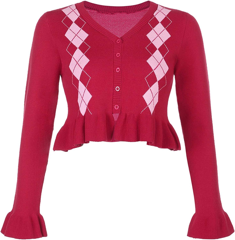 Women's Knit Sweater Vest Y2K Argyle Plaid E-Girls England Style 90s Knitwear Tank Top Streetwear with Mini Skirt Set
