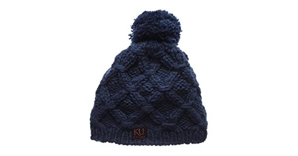 NCAA Slouch Winter Knit Skull Toque Cap Zephyr Marilen Womens Cuffless Beanie Hat with POM POM
