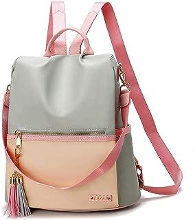 LOPDJSEG Women Backpack Purse Multi-Pocket Color Matching Anti-Theft Lightweight Large Capacity Shoulder Bag Cute Backpack for Girls White