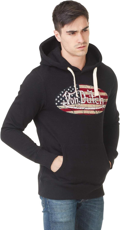Von Dutch Sweat à Capuche Hoodie Logo Noir Flag Usa