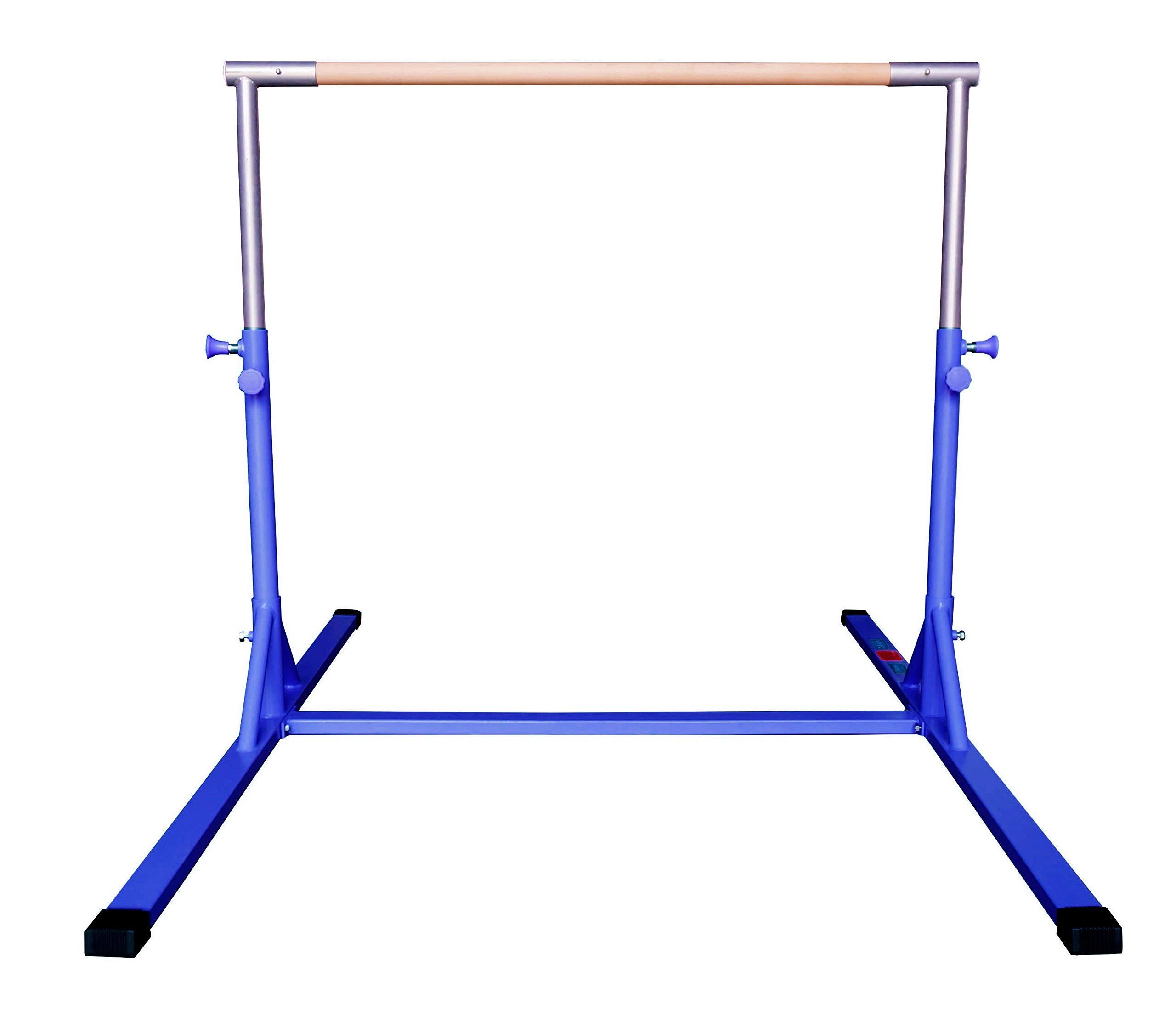 Amazon.com : Z ATHLETIC Elite Gymnastics Adjustable Height Training Bar for Kips, (Blue) : Sports & Outdoors