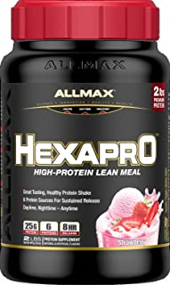 ALLMAX Nutrition Hexapro Protein Blend, Strawberry, 2 lbs