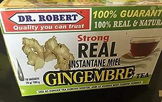 DR. ROBERT Real Instant Honey Ginger Tea 10 Sachets