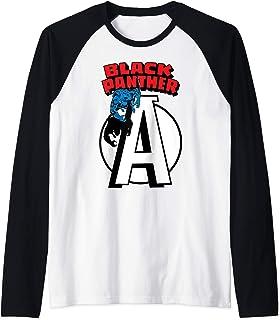 Marvel Avengers Black Panther Chest Logo Manche Raglan