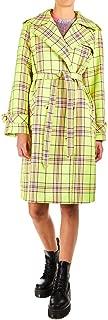 MANILA GRACE Luxury Fashion Womens K002PQMD748 Yellow Trench Coat | Fall Winter 19