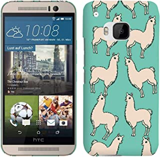 Glisten - Designer Hard Plastic Case for HTC One M9 - Llama Teal Pattern Printed Slim Profile Cute Snap On Back Cover
