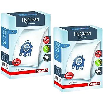 4 Staubsaugerbeutel Miele GN HyClean 3D für Miele S 2121