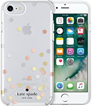 Kate Spade New York Cell Phone Case For iPhone 8 / iPhone 7 / iPhone 6, Confetti Dot Clear/Silver/ Gold/Rose Gold