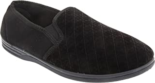 Zedzzz Mens Kevin Velour Twin Gusset Slippers