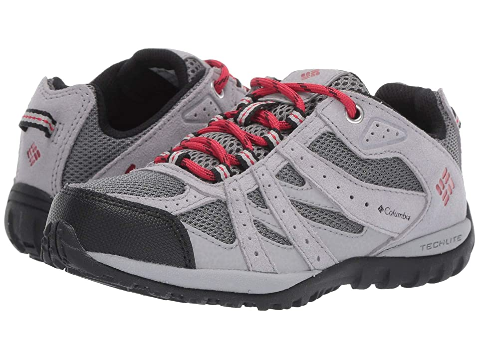 Columbia Kids Redmond (Little Kid/Big Kid) (TI Grey Steel/Mountain Red) Boys Shoes