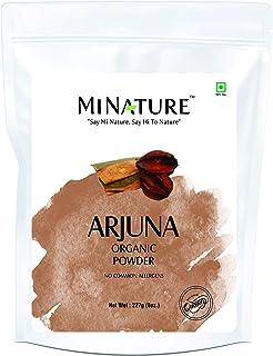 mi nature USDA Organic Arjuna Bark Powder (Terminalia Arjuna)   227g(8oz)(1/2lb)   Best Herb for Heart Health   100% Pure ...