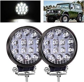 """Biqing 2X 3"""" Mini Reflektor Roboczy LED Biały,42W Okrągły Reflektor LED Reflektor do Jazdy Terenowejv 12V 24V Dodatkowy Re..."""
