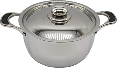 eKitchen Evasilva Triply cookware (Casserole/Cook & Serve Dish W/L 220mm/22cm - 3.25L)