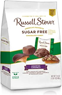 Russell Stover Sugar-Free Assorted Caramels, 17.85 Ounce Bag