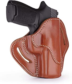 1791 GUNLEATHER SIG P320c Holster, Right Hand OWB Leather Gun Holster for Belts Also fits HK VP9sk, HK P2000, HK 45c, SIG P229c and Most compacts with Rails