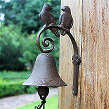 Deurgokken Bells Rustic Retro smeedijzer Bell deurbel Bird Love Home Mural Garden Decoration voor de Tuin (Color : Multi-c...