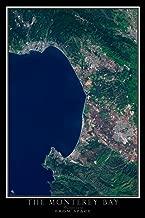 Terra Prints Monterey Bay California Satellite Poster Map L 24 x 36 inch