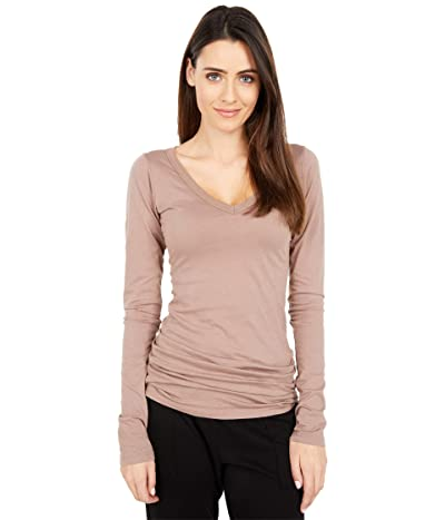 LAmade Fitted V-Neck Tee (Truffle) Women