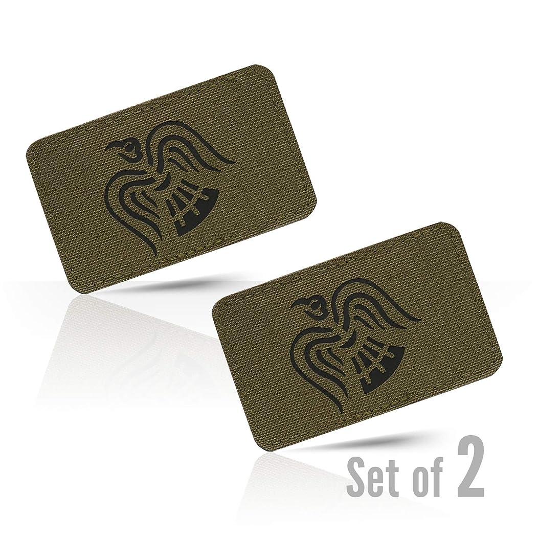 M-Tac Morale Patches Crow Logo Tactical Patch Lazer Cut