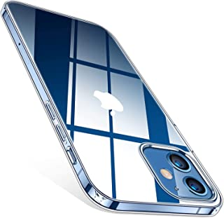 TORRAS Crystal Clear Compatible for iPhone 12 Mini Case, [Against-Yellowing] Slim Yet Shockproof Soft Silicone Sturdy Thin Phone Case Compatible for iPhone 12 Mini 5.4 inch 2020, Crystal Clear