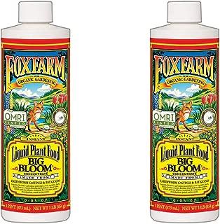 Fox Farm Big Bloom Organic Liquid Concentrate Plant Food, 1 Pint Bottle (Count of 2)