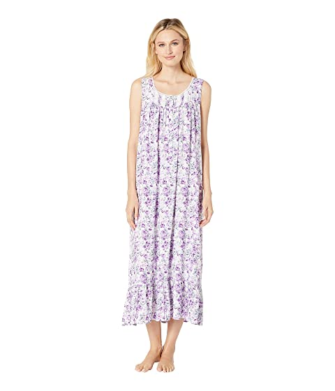 Eileen West Tops , WHITE LILAC FLORAL DOT