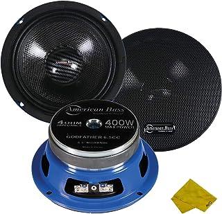 "American Bass Godfather 6.5"" Midrange Car Speaker, 400 Watt Maximum Power, Mid Bass Car Audio Stereo Woofer Loudspeaker, 4... photo"