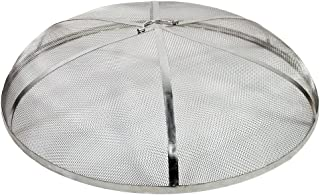 Sunnydaze Fire Pit Spark Screen Cover - Round Outdoor Heavy Duty Metal Firepit Lid Protector - Rust Resistant Stainless Steel Replacement Accessory - 36 Inch