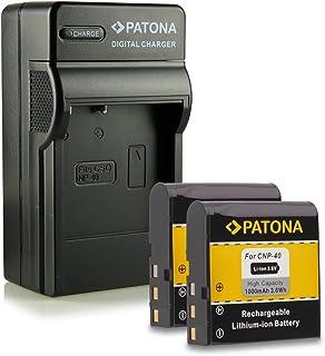 Bundle - 4en1 Cargador + 2x Batería NP-40 para Casio Exilim High Speed EX-FC100 - Exilim Pro EX-P505 / EX-P600 / EX-P700 - Exilim Zoom EX-Z30 / EX-Z40 / EX-Z50 / EX-Z55 / EX-Z57 / EX-Z100 / EX-Z200 / EX-Z300 / EX-Z400 / EX-Z450 / EX-Z500 / EX-Z600 / EX-Z700 / EX-Z750 / EX-Z850 / EX-Z1000 / EX-Z1050 / EX-Z1080 / EX-Z1200