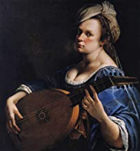 Artemisia Gentileschi - Self Portrait as a Lute Player, Size 24x28 inch, Canvas Art Print Wall décor
